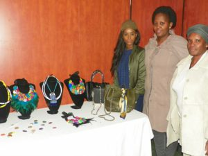 Malerato Sekha, owner of Shwenkara Creations and her team